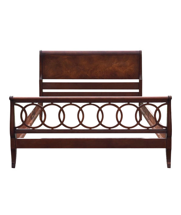 Vintage Inlaid Mahogany Hollywood Regency Full Size Bed by 2ndStoryTradingCo