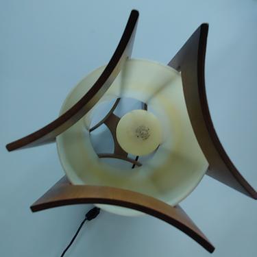 Danish Modern Teak Sculptural Rocket Table Lamp c1960's by ModandOzzie