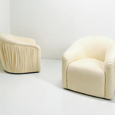 Ruched Swivel Club Chair by BetsuStudio