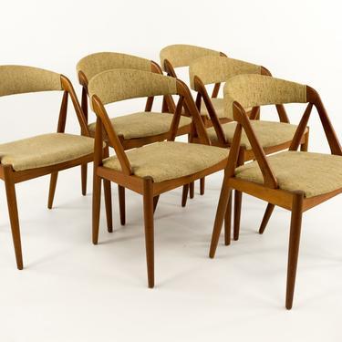 Kai Kristiansen Model 31 for Schou Andersen Mid Century Modern Teak Dining Chairs - Set of 6 - mcm by ModernHill