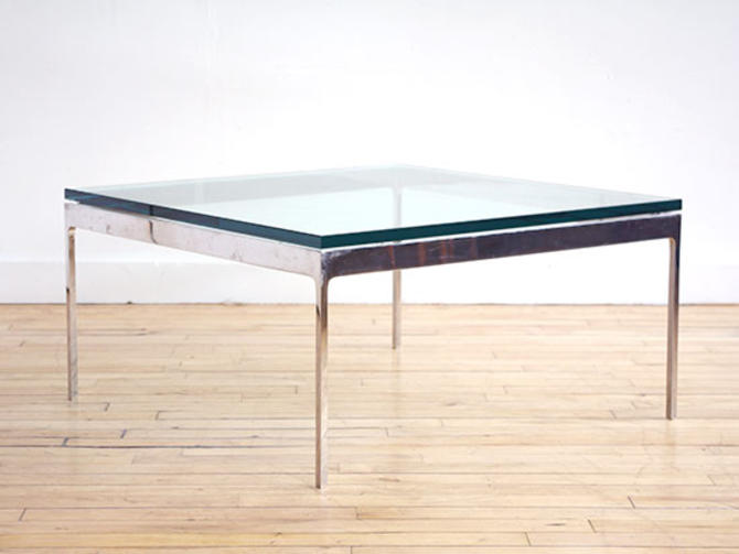 Zographos Chrome & Glass Coffee Table