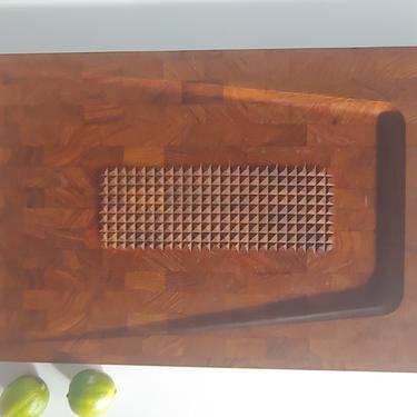 Vintage Digsmed Large Teak Cutting Board Made in Denmark by ModandOzzie