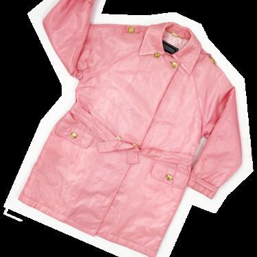 Gianni Versace Versus pink nylon trench coat