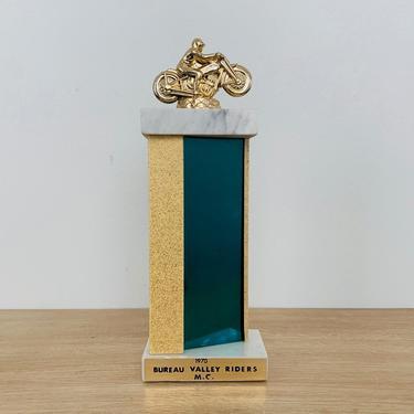 Vintage Bureau Valley Riders Motorcycle Club Trophy circa 1970 by DelveChicago