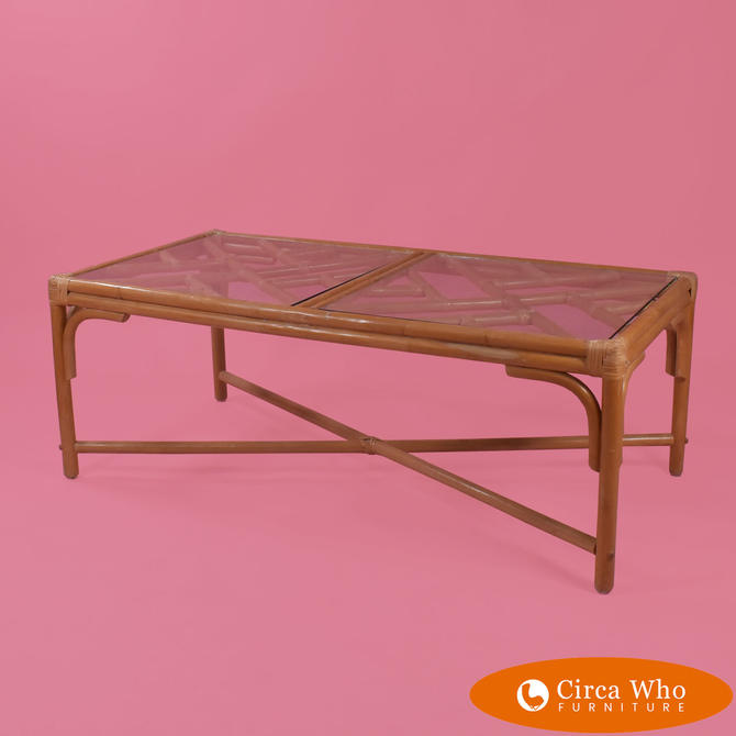 Fretwork Bamboo Coffee Table