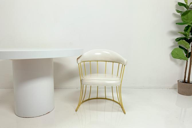 Yellow Metal Accent Chair by BetsuStudio