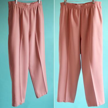 Mauve Pink High Waist Pants L/XL 1980's by BeggarsBanquet