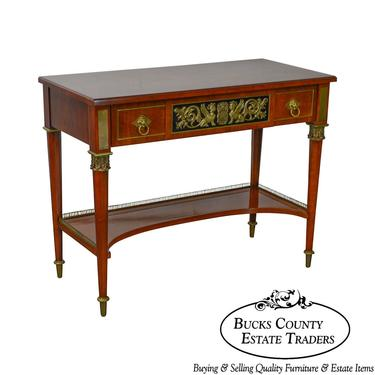 John Widdicomb Neo Classical Style Bronze Mount 1 Drawer Console Table by BucksEstateTraders