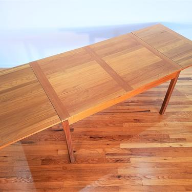 Mid century Danish Ansager Mobler Teak Dining Table, Expandable to 92 Inches by ProRefineFurnishings