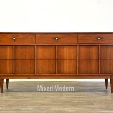 Basic Witz Walnut Mid Century Dresser by mixedmodern1