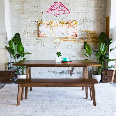 "Solid Walnut Dining Table, Dark Walnut Dining Table, Kitchen Table, Modern Dining Table, Mid Century Modern Inspired, ""The Sputnik"" by moderncre8ve"