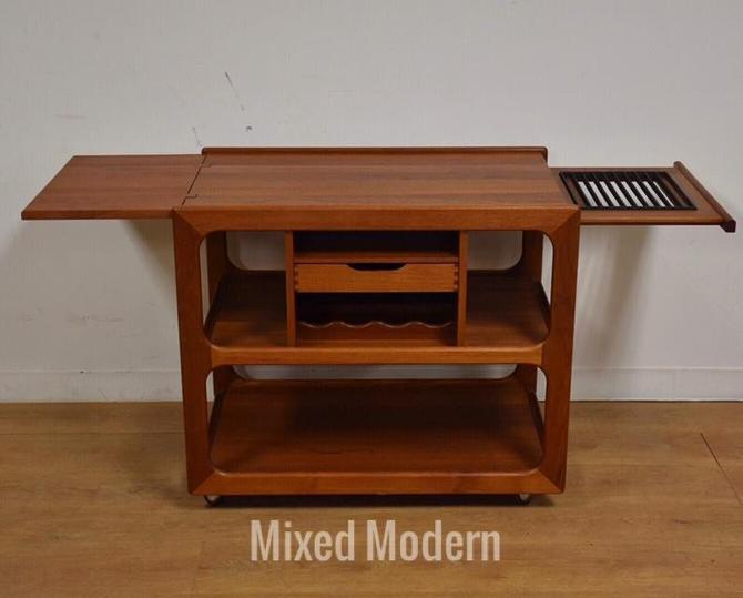 Salin Nyborg Danish Teak Bar Cart Server by mixedmodern1