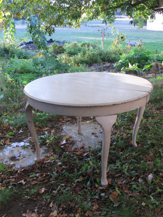 Two leaves Oval or Round White Shabby Chic Dining Table French Country Kitchen Table French Decor Table Provincial Antique Farmhouse Table by akaATA