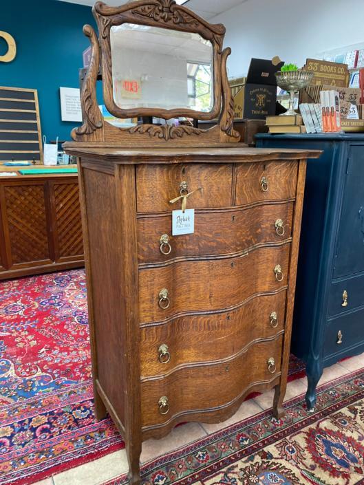Vintage Dresser With Mirror by StylishPatina