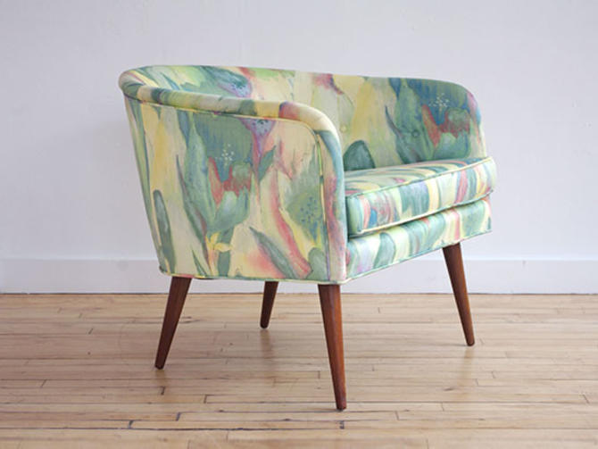 Harvey Probber Style Barrel Chair