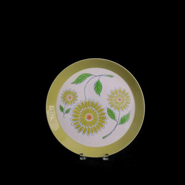 "Vintage Mid Century Modern MIKASA Duplex by Ben Seibel Village 2505 Whimsical Floral Serving Platter 12.5"" 1970s Classic Dinnerware Pattern by SwankyChaperooo"