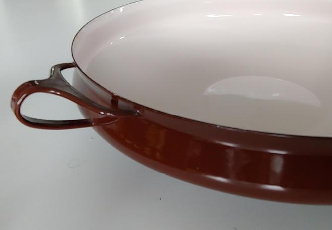 Vintage Brown Dansk Kobenstyle Large Paella Pan by Jens Quistgaard by ModandOzzie