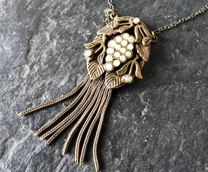 Antique Art Nouveau Tassel Necklace by LegendaryBeast
