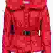 Max Mara - Red Button-Up Puffer Coat w/ Belt Sz 6