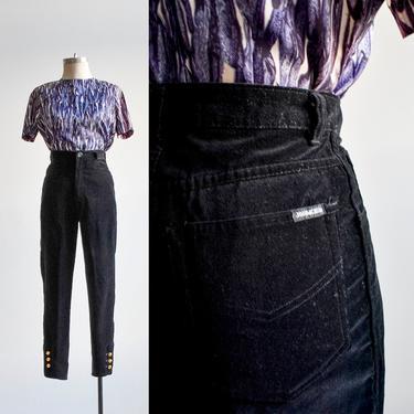 Vintage Black Velour Slacks by milkandice