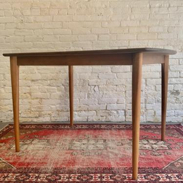 Perfect APARTMENT sized Mid Century Modern WALNUT Dining TABLE by CIRCA60