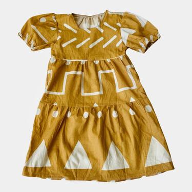 SARAFINA DRESS - Tumeric Abstract