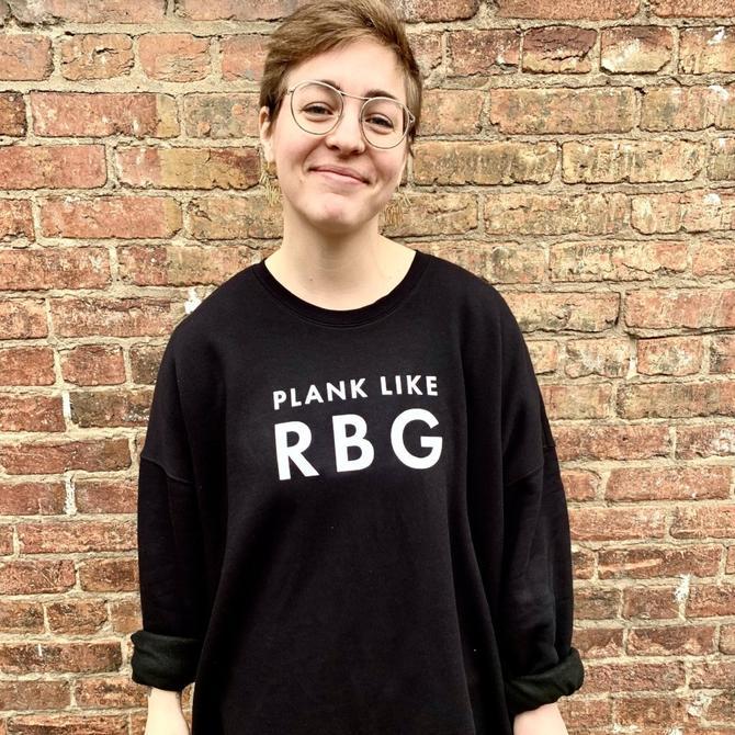 'Plank like RBG' Unisex Sweatshirt