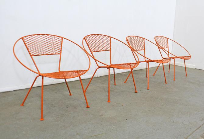 Vintage Outdoor Mid-Century Modern Atomic Cicchelli Style Outdoor Circle Hoop Chair Set - SET OF 4 by AnnexMarketplace