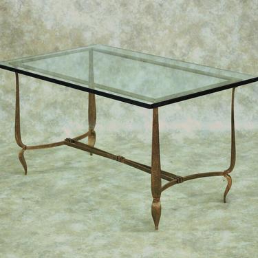 Rene Prou gilt iron coffee table (#1645)