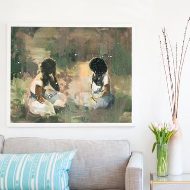 These Days . extra large wall art . horizontal giclee art print by ClareElsaesser