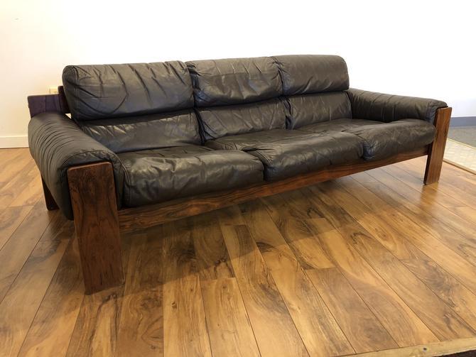 Uu-Vee Kaluste Oy Rosewood & Leather Sofa