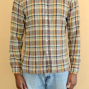 Vintage 70s Hand Woven Long Sleeve Western Button Down Shirt by MAWSUPPLY