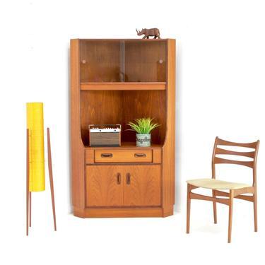 Mid Century Corner Display Cabinet by G Plan by SputnikFurnitureLLC