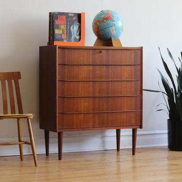 Mid Century Danish Modern Minimalist Teak Dresser by SharkGravy