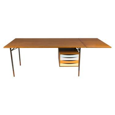 Finn Juhl Model BO69 Nyhavn Teak Desk with Extension for Bovirke, Denmark, 1950s