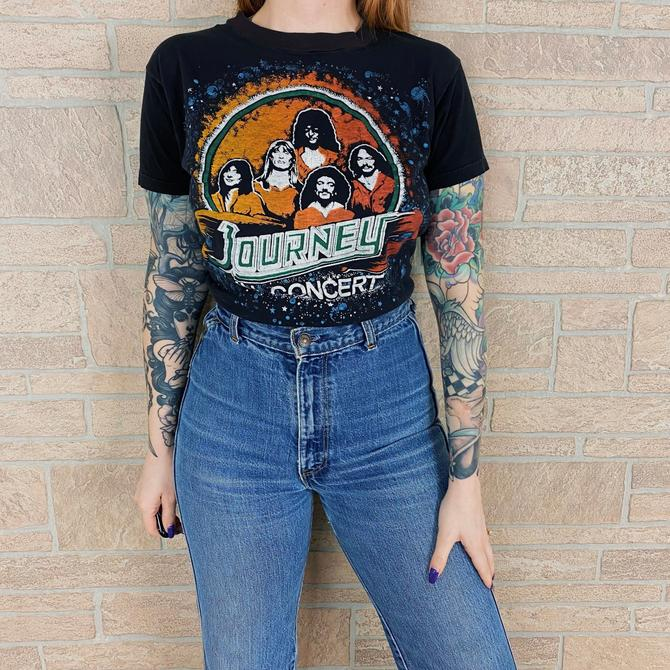 70's Journey In Concert Vintage Band Tee by NoteworthyGarments