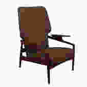 Danish Modern Teak Finn Juhl Style Reclining Wingback Lounge Chair