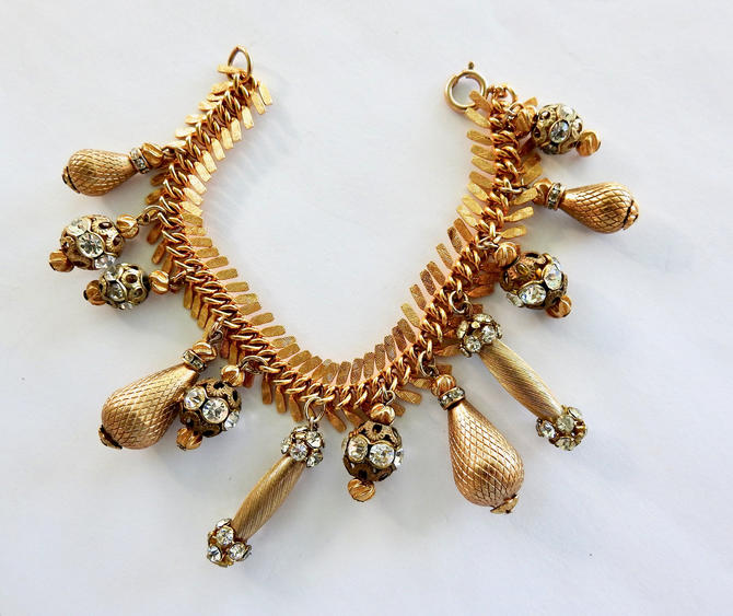 1960s Rhinestone Bauble Bracelet by LegendaryBeast