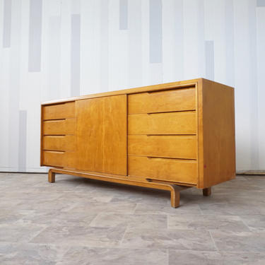 Mid Century Maple Dresser by Edmond Spence