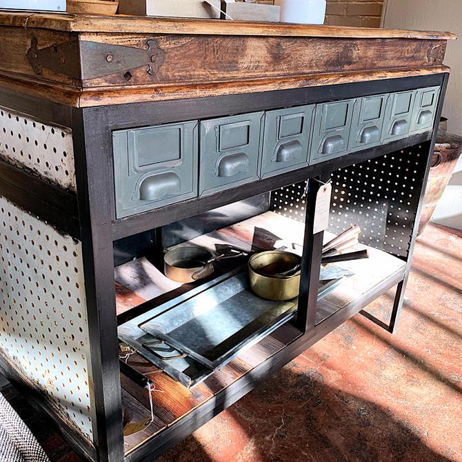 Vintage Industrial Work Table