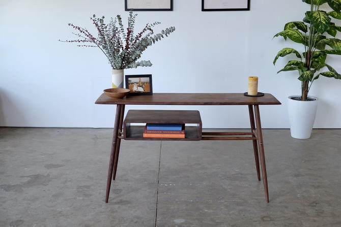 Mid Century Modern Hallway Table / Contemporary hall table by BeautyBreadWoodshop