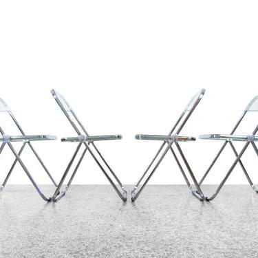"Giancarlo Piretti ""Plia"" Folding Chairs for Castelli - Set of Four by JefferyStuart"