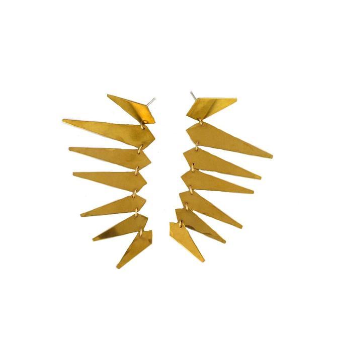 Maxima Punk Earrings - Brass