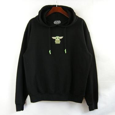 Embroidered Yoda Pullover Hoody