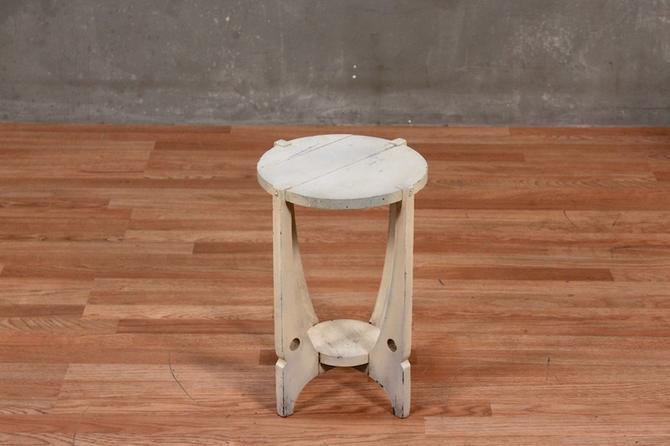 Petite Farmhouse White Side Table