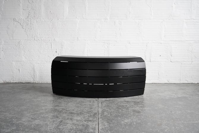 TGM Curved Slatted Bench