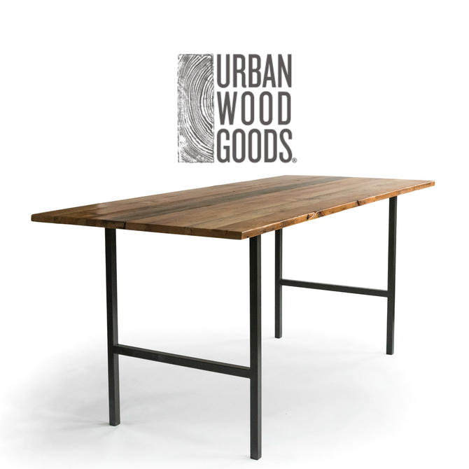 Counter Height OR Standing Height Computer Barn Wood Desk, choose finish. by UrbanWoodGoods
