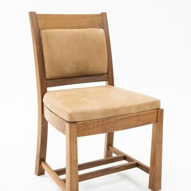 Walnut & Leather Dining Chair by BenNewmanFurniture