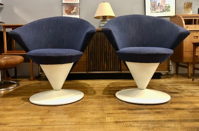 Pair of Vintage Adrian Pearsall 'Cone' Swivel Chairs 1960's