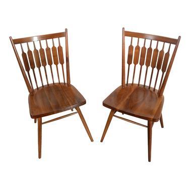 Drexel Declaration 4 Dining Chairs Walnut Designed by Kipp Stewart and Stewart MacDougall by HearthsideHome
